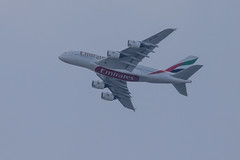 Emirates Airbus A380 (Mikon Walters) Tags: emirates airbus a380 birmingham bhx plane flying flight airline airplane travel nikon d5600 sigma 150600mm contemporary zoom lens photography close up