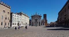 Mantova (Eternally Forgotten) Tags: mantova mantua italy italia italien italian province region lombardy lombardia piazzasordello architecture city center downtown church buildings street scene people bustling crystalline clear sky skies unique sight bright colours beautiful charming wonderful journey travel tourism trip discovery voyage adventure exploring hiking wandering magic spell enchanting memories recollections lovely dreams melancholy yearning nostalgia reminiscence