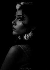 Interlude (Harsh Mangal`) Tags: portrait woman girl classywoman lady blackandwhite indianwoman indianlady blackandwhiteportrait makeup face studioportrait studiolights harshmangal india indian sideportrait love