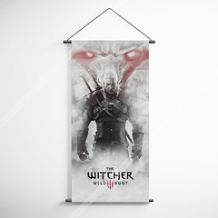 The Witcher 38 Wild Hunt Decorative Banner Flag for Gamers (gamewallart) Tags: background banner billboard blank business concept concrete design empty gallery marketing mock mockup poster template up wall vertical canvas white blue hanging clear display media sign commercial publicity board advertising space message wood texture textured material wallpaper abstract grunge pattern nobody panel structure surface textur print row ad interior