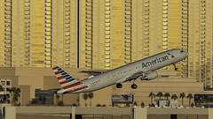N154UW_LAS_Takeoff_1R (MAB757200) Tags: americanairlines a321211 n154uw aircraft airplane airlines airbus airport jetliner las klas mccarran takeoff runway1r