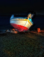 Out of order... (panoskaralis) Tags: boat fishingboats fishing vessel colorful sea coast coastline beach lesvos lesvosisland mytilene greece greek hellas hellenic outdoor nikoncoolpixb700 nikon nikonb700 aegean aegeansea evening