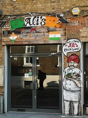 welcome to Ali (maramillo) Tags: london maramillo word front sign restaurant indian paint wall