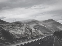 """""""Clouds On Kirker Pass"""" (bradhodges09) Tags: california roads highways blackandwhitephotography blackandwhite pass rollinghills hills lowclouds clouds"""