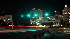 Time Lapse Traffic Light at Puerta de Tierra (josue_cruz) Tags: pentax k50 san juan puerto rico long exposition night building bridge time lapse lights traffic