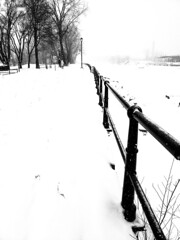 Lachine Canal Covered in Snow (Montreal) (MassiveKontent) Tags: winter snow trees contrast noiretblanc blackwhite montreal bw city monochrome urban blackandwhite streetphoto montréal quebec streetphotography bwphotography streetshot android lines absoluteblackandwhite frozen white lachinecanal stairs tree park