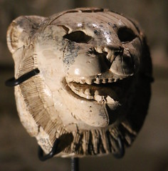 Ivory lion's head (calmeilles) Tags: london england unitedkingdom ashurbanipal britishmuseum assyria ancienthistory archaeology middleeast nineveh