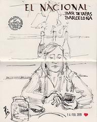 El Nacional (Fotero) Tags: usk urbansketch urbansketcher urbansketching tinta dibujo arte art pluma estilografica sketchbook cuaderno cuaderno19