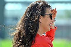 Linda Pizzuti Henry -- Boston Red Sox Spring Training (forestforthetress) Tags: lindapizutti lindapizuttihenry bostonredsox redsox johnhenry bostonredsoxspringtraining jetbluepark fortmyers baseball outdoor color omot nikon face woman female