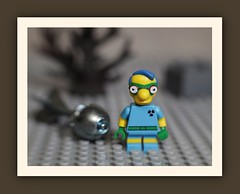 Fallout Boy from The Simpsons (N.the.Kudzu) Tags: tabletop macro toy lego miniature falloutboy simpsons diecast capbomb canoneosm lensbabysol45 lightroom photoscape frame