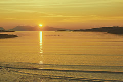 Sunset over the Island of Rum (imagesbyhmck) Tags: rum flickr invernesshire lochaber highlandregion southmorar portnaluchaig silversands september 2015 scotland unitedkingdom gb naheileananastaigh innerhebrides hebrides scottishislands westcoastscotland uk sundown sunset evening view seascape scenery