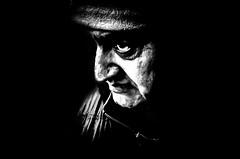 I am the one that got away (Gerrit-Jan Visser) Tags: bewerkt streetphotography streetportrait amsterdam bnw blackandwhite dark contrast