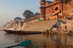 Varanasi, India (Ninara) Tags: varanasi india uttarpradesh ghat ganges ganga gangaaarti sadhu nagasadhu sunrise morning bathing holycity dawn chetsinghghat kashi benares