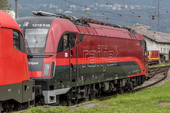 Taurus 1216-018 Railjet (The Rail Net) Tags: öbb innsbruck bahnhof