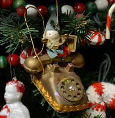 Elf Answering Santa's Phone (BKHagar *Kim*) Tags: bkhagar christmas ornament ornaments tree christmastree decoration decorations season elf telephone phone dial