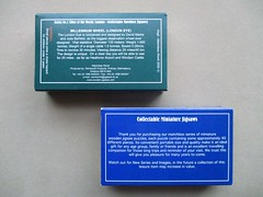 Wentworth packaging - matchbox reverse (pefkosmad) Tags: wentworth wooden wood jigsaw puzzle leisure hobby pastime packaging box millennium 2000 matchbox new complete whimsies figurals nonstandard