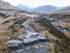 Down the Path - The Cobbler Jan 2019 (GOR44Photographic@Gmail.com) Tags: arrocharalps argyll scotland phone samsung a6 path ben lomond loch long rocks stone river altabhalachain hills mountains munro corbett gor44