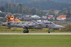 9241 Saab JAS-39C Grippen Czechoslovakian Air Force 211 Tigers Colours Sliac 01st September 2018 (michael_hibbins) Tags: 9241 saab jas39c grippen czechoslovakian air force 211 tigers colours sliac 01st september 2018 aeroplane aviation aerospace aircraft airplane aero airshow airfields airport airports aeroexpo military defence tactical fighter bomber trainer multiengined multirole plane planes jet jets afterburner afterburners reheat