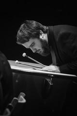 Vibraciones (Guillermo Relaño) Tags: guillermorelaño nikon d90 teatro nuevoapolo orquesta camerata musicalis especial ¿porqueesespecial schuman sinfonía cuarta concierto percu percusión byn bw