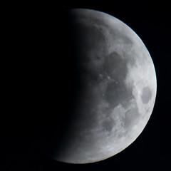 Glimpse of Shadow (nicklucas2) Tags: astrophotography moon moon2019 moonjan2019 supermoon eclipse