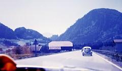Approaching Hohenwerfen (zeesstof) Tags: 1969 35mmslidefilm austria erlebnisburghohenwerfen hohenwerfencastle kodachrome mamiya film fromcitytomountains geo:lat=4751172262 geo:lon=1316681911 geotagged medieval roadtrip summerholiday zeesstofsmom