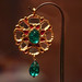 Gold, ruby, emerald and diamond pendant