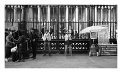 Chinese protestors (exreuterman) Tags: london street olympus m43 micro 43 bloomsbury bw monochrome candid