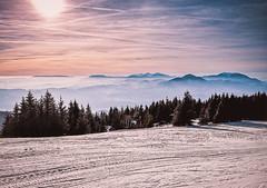 Sunset at Kope ski resort