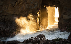 The Force (HelenC2008) Tags: bigsur pfeifferbeach californiashoreline pacificcoast sunset wave splash golden nikon d850
