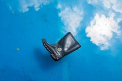(@AmirsCamera) Tags: petalingstreet kualalumpur masjidjamek river clouds blue sky reflection shoe boot water streetphotography street object city urban fujifilm x100s kl december 2018