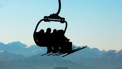 Skiers (Nicola Pezzoli) Tags: italy italia val gardena dolomiti dolomites mountain winter alto adige snow neve nature natura bolzano piz sella comici silhouette skiers ski sunset alps