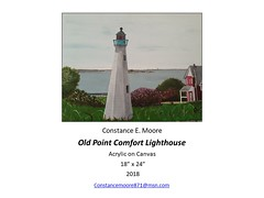 """Old Point Comfort Lighthouse • <a style=""""font-size:0.8em;"""" href=""""https://www.flickr.com/photos/124378531@N04/46380890174/"""" target=""""_blank"""">View on Flickr</a>"""