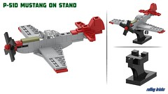 North American P-51D Mustang (Rolling bricks) Tags: lego wwii worldwar fighter north american p51d mustang airforce usairforce ww2 microscale us airplane aircraft militaryaircraft army usarmy aviation militaryaviation military red tails redtails