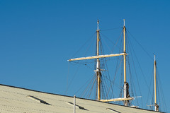 Behind the roofline (.Stephen..Brennan.) Tags: boats da70 fremantle pentax pentaxk3 perth westernaustralia australia au leeuwin 70mm