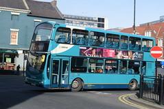 ANE 7485 @ Newcastle-upon-Tyne Eldon Square/Haymarket bus station (ianjpoole) Tags: arriva north east volvo b7tl wright eclipse gemini lj51djd 7485 working max route x7 newcastleupontyne haymarket bus station blyth this is former london vlw39