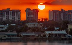Sunset Boca Ciega Bay (vwalters10) Tags: sunset bay water cloud buildings florida