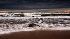 Stormy Morning (PeskyMesky) Tags: aberdeen aberdeenshire blackdog beach storm water sea scotland ocean cloud canon canon5d eos