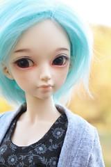 Eowyn (AluminumDryad) Tags: fairyland minifee mnf flam eventhead bluehair msd abjd balljointeddoll doll resin autumn