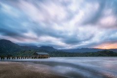 Give me the beach DSC_9529 (BlueberryAsh) Tags: hanalei hanaleibay kauai sunset beach pier clouds long exposure sand pink sky mountains napalimountains coast nikond750 nikon24120 water ocean seascape hawaii cloudsstormssunsetssunrises