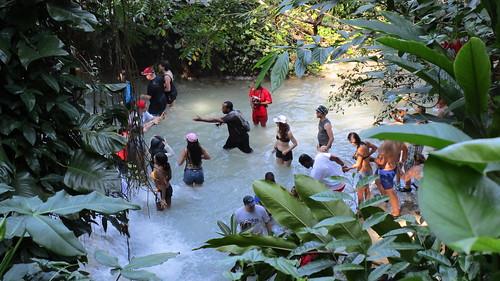 Jamaica -  Ocho Rios: Preparing the adventure - Dunn's river waterfalls will be defeated