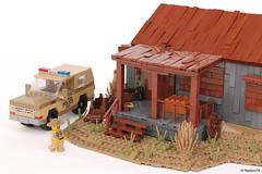 Stranger Things | Sheriff Hopper's Cabin + Chevrolet Blazer (Andrea Lattanzio) Tags: netflix indiana hawkins tv series sheriff hopper cabin hut lego blazer chevrolet