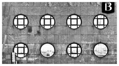 B is for wall with windows (leo.roos) Tags: wall muur facade window mirrorglass raam round circle glass mirror glas spiegel spiegelglas noiretblanc industrieterrein industrialpark industrialestate tradingestate abcwestland poeldijk westland a7iii a7m3 sony9028macro sel90m28g sonyfe90mmf28macrogoss darosa leoroos