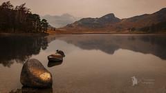 Blea Tarn Misty morning (Lumen01) Tags: water reflection bleatarn rocks landscape mist lakedistrict cumbria lake nikon d800 on1 on1raw nationaltrust
