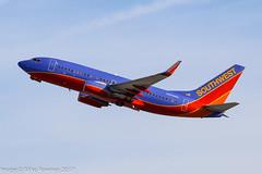 N484WN - 2004 build Boeing B737-7H4, climbing on departure from Runway 25R at Los Angeles (egcc) Tags: 484 1575 33841 b737 b737700 b7377h4 b737ng boeing california imperialhill klax lax lightroom losangeles n484wn swa southwestairlines wn