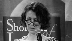 Event Horizon March 2019 013 (byronv2) Tags: woman author writer books reading literature literary sciencefiction stage portrait shorelineofinfinity eventhorizon edinburgh edimbourg scotland georgeivbridge frankensteins blackandwhite blackwhite bw monochrome