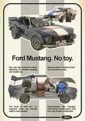 60s Advertisement (skallesplitter) Tags: lego fordmustang minifigurescale carrollshelby shelbygt500 advertisement 1960s 60s ford mustang