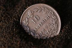 Coin (Patrick JC) Tags: thefirstletterofmysurname macromondays coin italian metal 2019 detail dof old antique