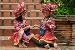 Young Thai Models (Anne Marie Clarke) Tags: thailand children models chiangmai staircase