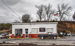 Happies Service Center (Bob G. Bell) Tags: c10 chevy pickup truck gasstation servicestation carcare lindside bobbell wv monroe clouds carrepair