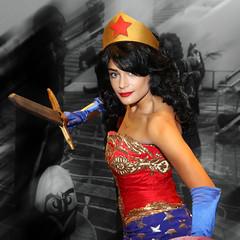 Wonder Woman (Disney Princess styled) (greyloch) Tags: katsucon cosplay costume photoshop niksoftware canonrebelt6s wonderwoman dccomics comicbookcharacter mashup